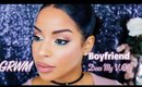 GRWM: Soft Makeup With Bold Green Liner | Boyfriend(Fiancé!) Does My Voiceover