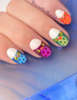 For the productlist see this blog entry: http://brilliantnailblog.com/owl-nail-art