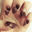 Chocolate Cupcake Nail Design