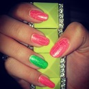 Neon Glitter Crackle
