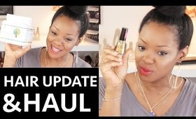 Fine/Thin Natural Hair Update & Small Beauty Haul! Highlighter, Polish and Drugstore Foundation!