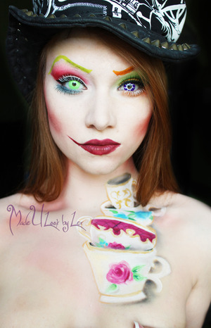 Welcome to my Tea Party.  My interpretation of the much requested Mad Hatter, inspired by the Tim Burton version, with my own twist on it. If you like this look, please share it with your friends! There will not be a tutorial for this look at the moment. www.facebook.com/madeulookbylex