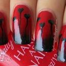 Gothic style manicure
