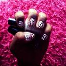 Pink Ombré Cheetah Nails 💅