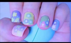 Colourful Floral Spring Nail Tutorial