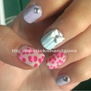 Girly Leopard Nails
