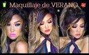 Maquillaje de VERANO  colorido (3 labiales) / SUMMER makeup tutorial | auroramakeup