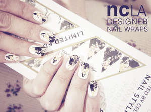 NCLA Nail Wraps in 'Aly En Vogue' edition.  More on my blog www.kakabeautyblog.com