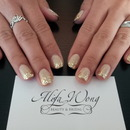 Nude Glittery Nails by Heera