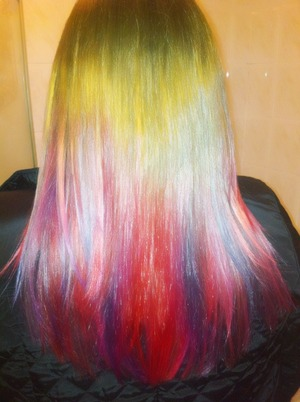 Pink, purple, red dip dye <3 xx
