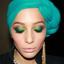 Teal Smokey Eye With A Pop Of Yellow