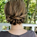 Headband Twisted Updo