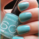 Rimmel 60 seconds #835 Bright back at you Swatch