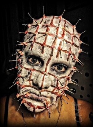 """8.20.12 - """"No more deals child, it is your flesh we want to experience, not your skill at bargaining."""" Here's my take on Pinhead, from the 1988 movie; Hellraiser."""