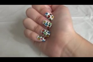 I was trying out leopard print nail art and I used to have problems doing this when i first started. I have a video on how I did it (: