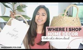 My Favorite Places to Shop Home Decor! | Boho Chic Decor Haul