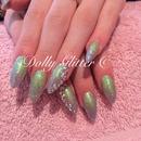 Mermaid nails...