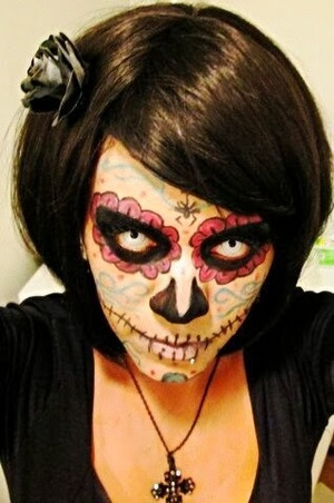 This look has been created by using GEO CPF1 white out lenses http://www.uniqso.com/crazy-halloween-anime-lenses/brand-geo/geo-cpf1