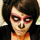Sugar Skull Makeup for Halloween by bookwritingmomanddad