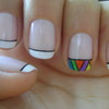 French + aztec nails!