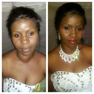 Makeup for chizobas wedding...make by Emel makeover