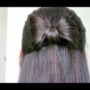 my hair in a bow