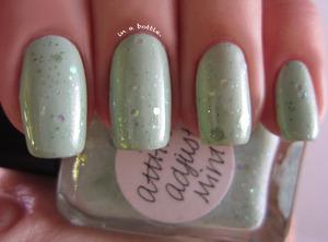 Lynnderella Attitude Adjust Mint over China Glaze Refresh-Mint @gemsinabottle