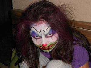 my daughter ,spooky clown
