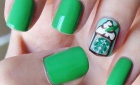 How To: Starbucks Nail Art