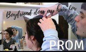 Boyfriend Does My Hair For Prom!