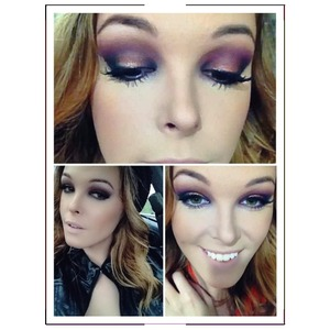 A fun and sexy purple smokey eye with a little bit if orange and gold! For products and steps Follow me on Instagram- makeupbychelsie