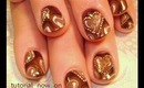 chocolate brown candy valentine heart design: robin moses nail art tutorial