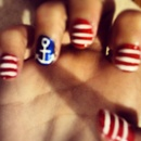 Sailor inspired nails
