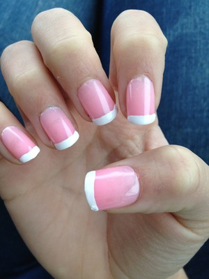Light pink with French tips!