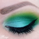 Blue and green look