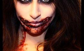 5 Minute Zombie Makeup-Halloween 2014