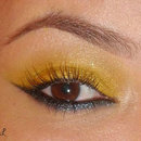 Yellow + Inverted Cat-Eye Liner