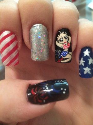 Patriotic Betty Boop