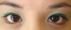 Lime-Green and Orange-Bronze Eye Look for Summer 2011