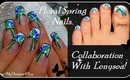 FLORAL SPRING NAIL ART, COLLABORATION WITH LENYSEA - ♥ MyDesigns4You ♥