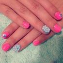 Pearly Hawaiian Nails