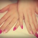 pink fashion nail design