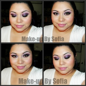 Smokey Purple Holiday Look #2 [using Mac's My Dark Magic eyeshadow]