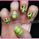 Neon Leopard and Stripes