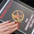 Fiery Nails inspired by the Hunger Games