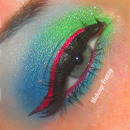 Glittery Blended Colorful Look