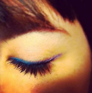 Edgy ombré eyeliner look courtesy of Urban Decay.