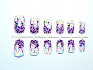 Purple and gold leopard print with candy drips