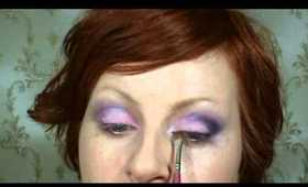 Purple smoky eyes (great for green & hazel brown eyes)