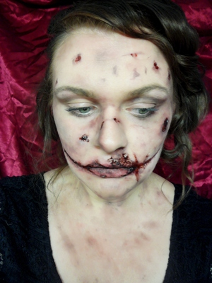 Watch my tutorial here: http://youtu.be/cYeA0eO_zhA - the Black Dahlia is the 6th makeup tutorial for my 2012 Halloween series.